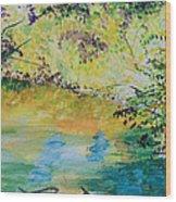 Creekside Wood Print by Lucinda  Hansen