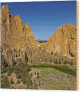 Crooked River At Smith Rock State Park Oregon  Wood Print