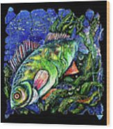Dear Lord  Please Let Me Catch A Fish Wood Print