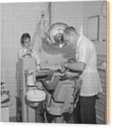 Dentist Working Patient October 18 1962 Black Wood Print