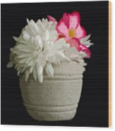 Desert Rose   Chrysanthemum And Adenium Obesum Wood Print