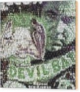 Devil Bat Movie Poster Horror Mosaic Wood Print