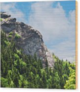 Devil's Courthouse Blue Ridge Mountains Wood Print