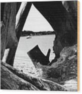 Drift Wood Window Wood Print