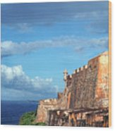 El Morro Fortress Rainbow Wood Print