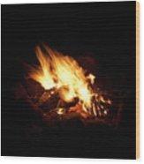 Fire 2 Wood Print