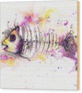 Fish Bones Wood Print