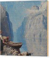 Fjord Landscape Wood Print