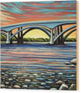 Folsom Bridge Wood Print