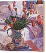 Fresh Tulips Wood Print