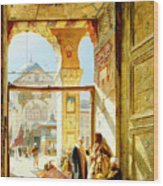 Gate Of The Great Mosque. Damascus Wood Print
