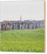 Gettysburg Confederate Infantry 0157c Wood Print