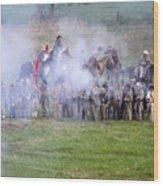 Gettysburg Confederate Infantry 7503c Wood Print