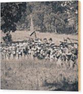 Gettysburg Confederate Infantry 9270s Wood Print