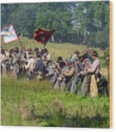 Gettysburg Confederate Infantry 9281c Wood Print