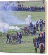 Gettysburg Union Artillery And Infantry 7439c Wood Print