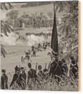 Gettysburg Union Artillery And Infantry 7457s Wood Print
