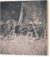 Gettysburg Union Infantry 9348s Wood Print