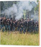 Gettysburg Union Infantry 9360c Wood Print