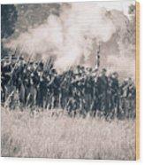 Gettysburg Union Infantry 9360s Wood Print