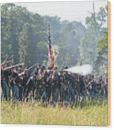 Gettysburg Union Infantry 9372c Wood Print