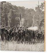 Gettysburg Union Infantry 9372s Wood Print