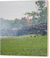 Gettysburg Union Infantry 9968c Wood Print