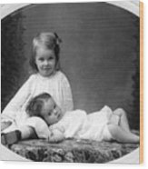 Girls Posing June 30 1905 Black White 1900s Wood Print