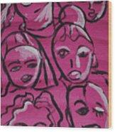 Girls Think Pink  Wood Print