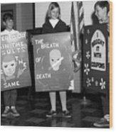 Grade School Children Kids Posters Circa 1960 Wood Print