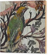 Green-yellow Bird Wood Print