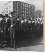 Group Women Females In Navy Circa 1918 Black Wood Print