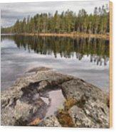 Haukkajarvi Landscape Wood Print