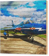Hawker Hunter T7 Aircraft On Wood Wood Print