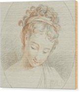 Head Of A Girl Wood Print