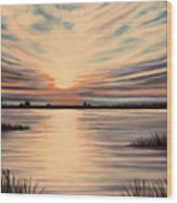 Highlights Of A Sunset Wood Print