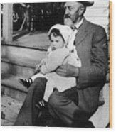 Holding Toddler 1912 Black White 1910s Archive Wood Print