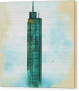 Illustration Of  Trump Tower Wood Print
