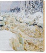 Imatra In Winter  Wood Print