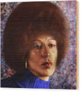 Impassable Me - Angela Davis1 Wood Print by Reggie Duffie