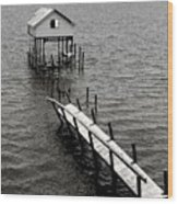 Indian River Pier Wood Print