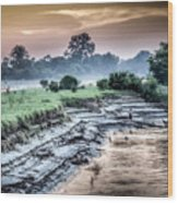 Irrawaddy River  Wood Print