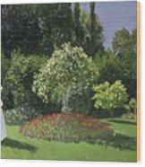 Jeanne Marie Lecadre In The Garden Wood Print