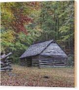 Jim Bales Place Barn Along Roaring Fork Motor Trail Wood Print