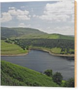Kinder Reservoir From White Brow Wood Print