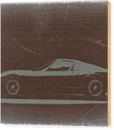Lamborghini Miura Wood Print by Naxart Studio