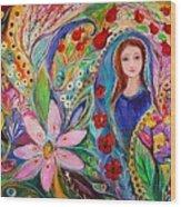 Leah And Flower Of Mandragora Wood Print