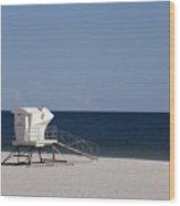 Lifeguard Station  Wood Print