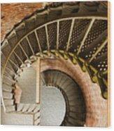 Lighthouse Stairs Cape Blanco Oregon 1 Wood Print