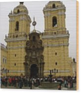 Lima Peru Church Wood Print